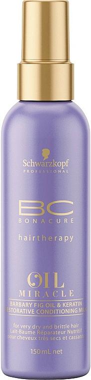 Acondicionador regenerador con aceite de higo de berbería y queratina - Schwarzkopf Professional Bonacure Oil & Micro Keratin Milk