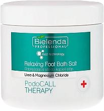 Perfumería y cosmética Sales de baño para pies con cloruro de magnesio y extracto de salvia - Bielenda PodoCall Therapy Relaxing Foot Bath Salt