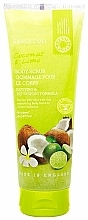Perfumería y cosmética Exfoliante corporal de coco y lima con aceite de marula y vitamina E - Grace Cole Fruit Works Coconut & Lime Body Scrub