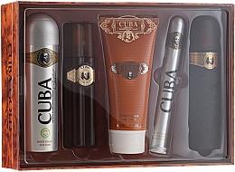 Perfumería y cosmética Cuba Gold - Set (edt/100ml + desodorante/200ml + bálsamo after shave/100ml + gel de ducha/200ml + edt/35ml)