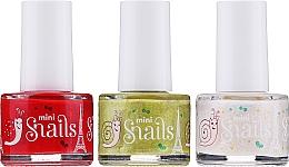 Perfumería y cosmética Set esmalte de uñas infantil, lavable y no tóxico - Snails Festive Mini (3uds.)
