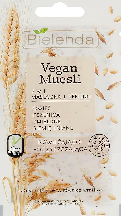 Mascarilla facial y peeling de trigo y semilla de lino - Bielenda Vegan Muesli