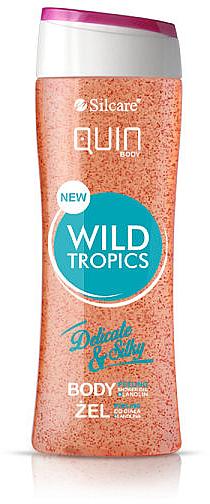 Gel de ducha exfoliante con lanolina y aroma tropical - Silcare Quin Peeling Wild Tropics