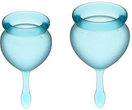 Perfumería y cosmética Copas menstruales, azul claro, 2uds. - Satisfyer Feel Good Menstrual Cup Light Blue