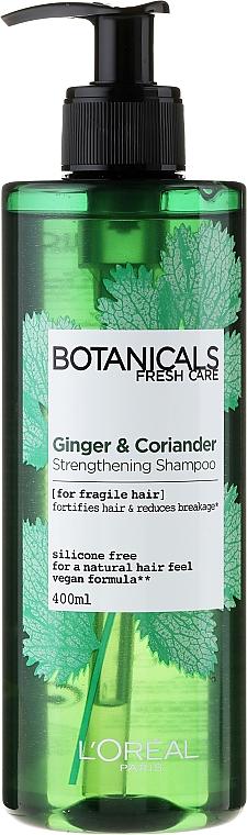 Champú con jengibre & cilantro - L'oreal Paris Botanicals Fuente de Fuerza Cabellos Fragiles — imagen N1