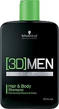 Perfumería y cosmética Champú para cabello y cuerpo con cafeína - Schwarzkopf Professional 3D Mension Hair & Body Shampoo