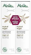 Perfumería y cosmética Aceite de argán revitalizante nutritivo, bio - Melvita Huiles De Beaute Argan Oil Duo (2uds.x50ml)
