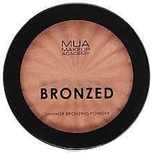 Perfumería y cosmética Bronceador facial en polvo compacto con arcilla caolín - MUA Bronzed Shimmer Bronzing Powder Solar Shimmer