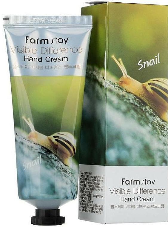 Crema de manos con baba de caracol - FarmStay Visible Difference Hand Cream Snail