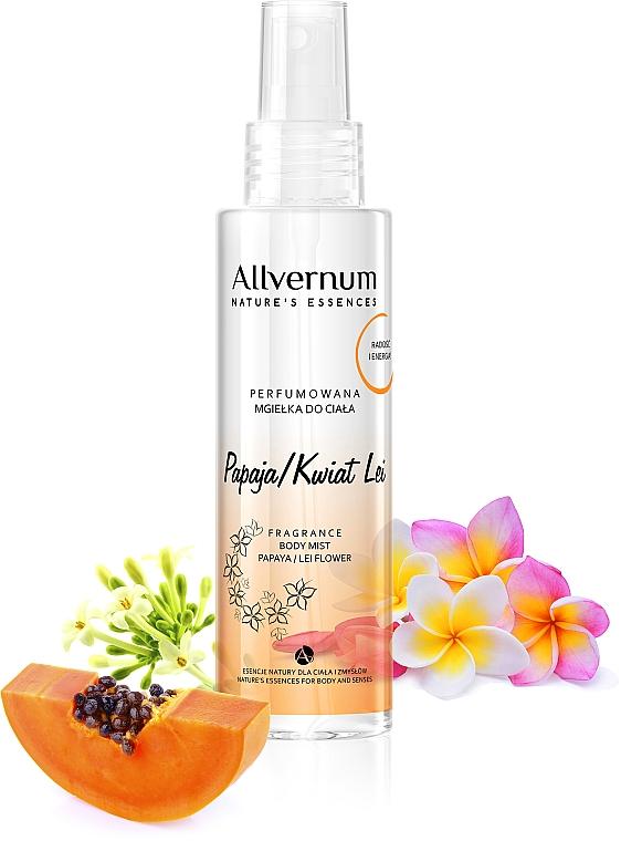 Bruma corporal perfumada con aroma a papaya - Allverne Nature's Essences Body Mist — imagen N1