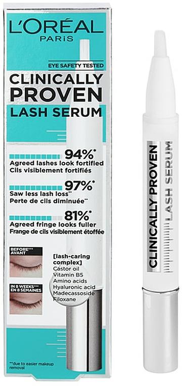 Sérum de pestañas fortificante con vitamina B5 y ácido hialurónico - L'Oreal Paris Clinically Proven Lash Serum
