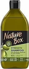Perfumería y cosmética Champú para cabello largo con aceite de oliva prensado en frío - Nature Box Shampoo Olive Oil