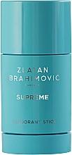 Perfumería y cosmética Zlatan Ibrahimovic Supreme Pour Homme - Desodorante antitranspirante stick con aroma a enebro y lavanda