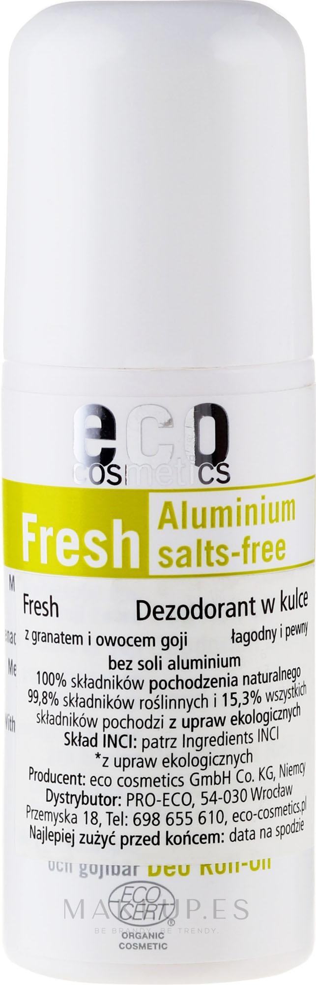 Desodorante roll-on con extracto de granada y bayas de goji - Eco Cosmetics — imagen 50 ml