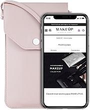 Perfumería y cosmética Funda para teléfono móvil con correa, Cross (18x10x1,5cm) - Makeup Phone Case Crossbody Powder