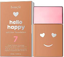 Perfumería y cosmética Base de maquillaje con acabado mate natural y cobertura de ligera a media - Benefit Hello Happy Soft Blur Foundation