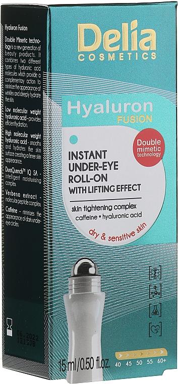 Gel roll-on para contorno de ojos con ácido hialurónico y cafeína - Delia Lifting Roll-On 3D Hyaluron Gel