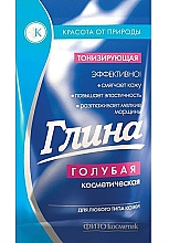 Perfumería y cosmética Arcilla facial azul con efecto tonificante - Fitokosmetik