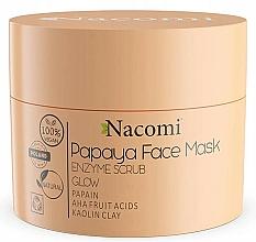 Perfumería y cosmética Mascarilla exfoliante facial con arcilla blanca y ácidos de frutas, 100% vegana - Nacomi Papaya Face Mask Enzyme Scrub