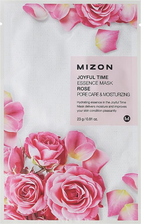 Mascarilla facial de tela con extracto de rosa - Mizon Joyful Time Essence Mask Rose