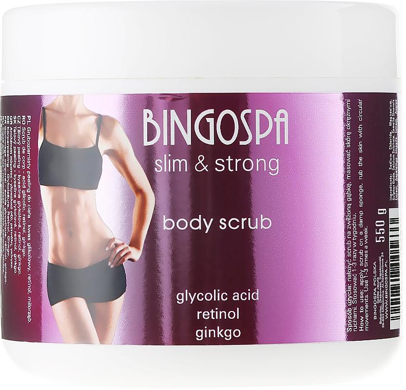 Exfoliante corporal con ácido glicólico & extracto de ginkgo - BingoSpa Slim&Strong Body Scrub
