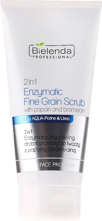 Exfoliante facial enzimático fino con papaína, bromelina y urea - Bielenda Professional Face Program 2in1 Enzyme Peel And Fine Grain Scrub