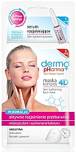 Perfumería y cosmética Mascarilla sérum facial de tejido con extracto de peonía - Dermo Pharma Skin Lightening
