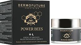 Perfumería y cosmética Crema facial rejuvenecedora con aceite de almendras y oro coloidal - Dermofuture Power Bees Protective Anti-wrinkle Cream