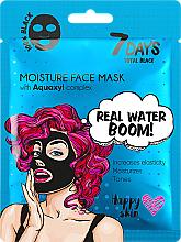 Perfumería y cosmética Mascarilla facial negra con ácido hialurónico - 7 Days Total Black Moisture Real Water Boom