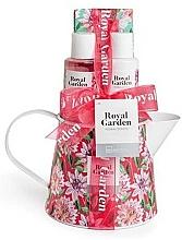 Perfumería y cosmética Set corporal (gel de ducha/100ml+ loción/100ml+ sales de baño/150g+ jabón/25g) - IDC Institute Royal Garden