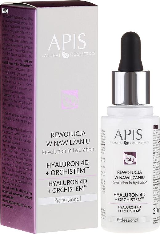 Sérum facial con ácido hialurónico - APIS Professional Hyaluron 4D + Orchistem