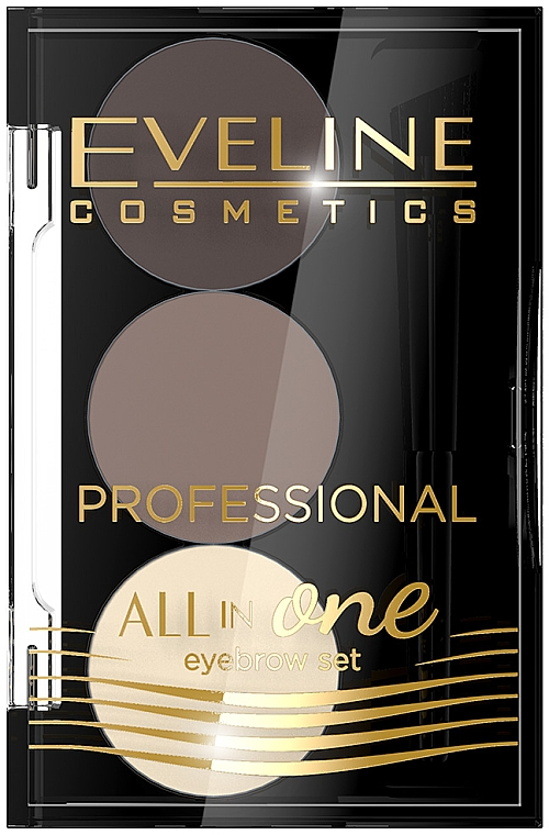 Paleta para cejas - Eveline Cosmetics All In One Eyebrow Styling Set