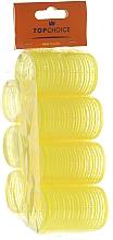 Perfumería y cosmética Rulos para cabello de velcro 35mm, 0355 amarillo - Top Choice