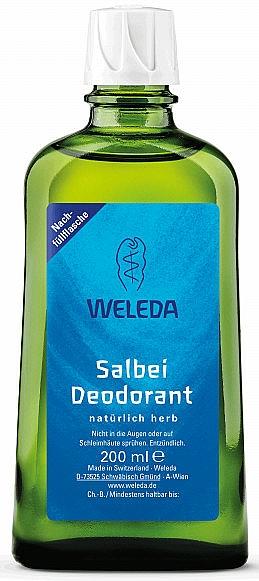 Recarga de desodorante corporal con aceite de salvia - Weleda Sage Deodorant Refill Bottle