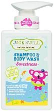 Perfumería y cosmética Champú y gel de ducha infantil con aceite orgánico de coco - Jack N' Jill Sweetness Shampoo & Body Wash