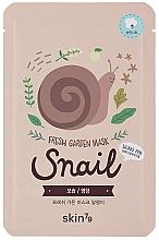Perfumería y cosmética Mascarilla facial de tejido con baba de caracol - Skin79 Fresh Garden Mask Snail