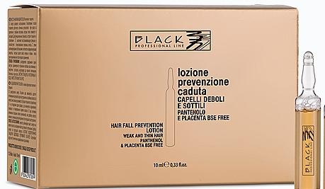 Tratamiento para cabello con extracto de placenta y D-pantenol en ampollas - Black Professional Line Panthenol & Placenta Lotion