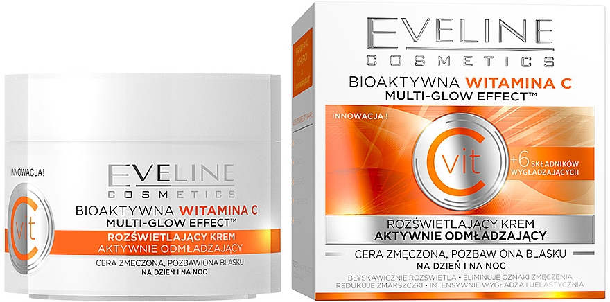 Crema facial con vitamina C y extracto de alga - Eveline Cosmetics Vit C Face Cream