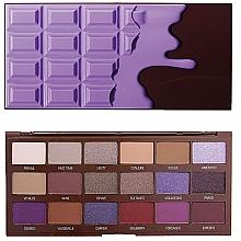 Perfumería y cosmética Paleta de sombras de ojos, 18 colores - I Heart Revolution Eyeshadow Palette Violet Chocolate