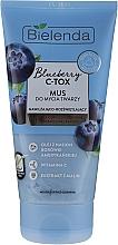 Perfumería y cosmética Mousse de limpieza facial con vitamina C y extracto de frambuesa - Bielenda Blueberry C-Tox Face Mousse For Face Cleansing