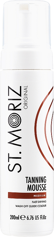 Mousse autobronceador corporal, tono medio - St.Moriz Instant Self Tanning Mousse Medium