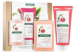 Perfumería y cosmética Set para cabello teñido con extracto de granada - Klorane Pomegranate (champú/200ml + acondicionador/200ml)