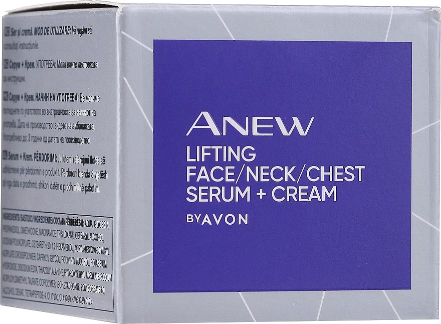 Sérum antiedad para rostro cuello y escote con péptidos de aminoácidos - Avon Anew Clinical Lift & Firm Pressed Serum