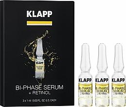 Perfumería y cosmética Tratamiento facial bifásico en ampollas para pieles maduras con retinol, vitamina A y extracto de té negro - Klapp Bi-Phase Serum Retinol