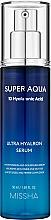 Perfumería y cosmética Sérum facial hidratante con 10 tipos de ácido hialurónico - Missha Super Aqua Ultra Hyalron Serum