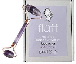 Perfumería y cosmética Rodillo de masaje facial de amatista - Fluff Face Roller Ametyst