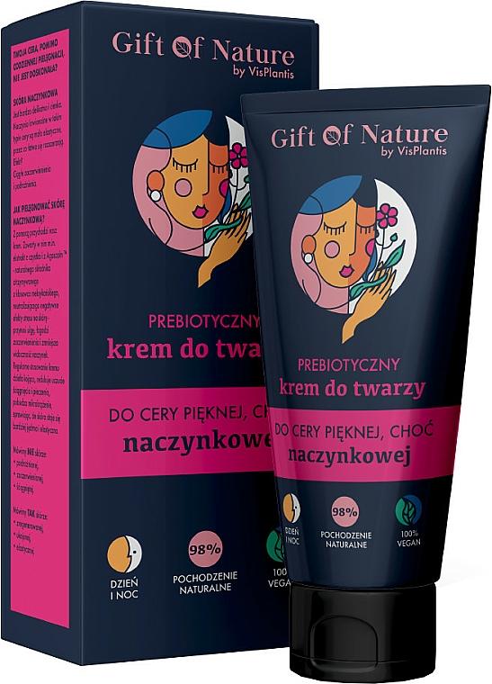 Crema facial natural vegana con prebiótico para capilares - Vis Plantis Gift of Nature Face Cream