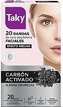 Perfumería y cosmética Bandas de cera depilatoria faciales con carbón activado - Taky Activated Carbon Facial Wax Strips