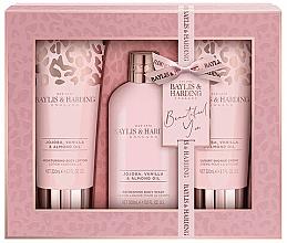 Perfumería y cosmética Baylis & Harding Jojoba, Vanilla & Almond Oil - Set corporl (loción/200ml + gel de ducha/300ml + crema de ducha/200ml)
