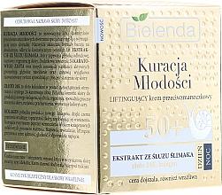 Perfumería y cosmética Crema facial antiedad con extracto de baba de caracol, oro de 24 quilates - Bielenda Kuracja Mlodosci Cream 50+